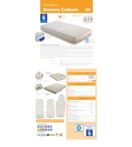 MATERASSO LIGHT MEMORY FOAM 60X125