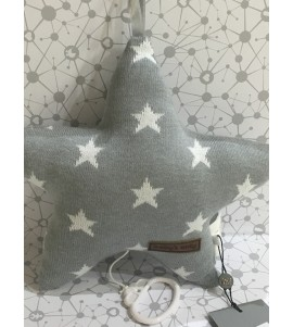MUSIC BOX STAR GREY-WHITE