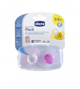 SUCCHIETTO PH MICRO GIRL SILICONE 0-2 CHICCO