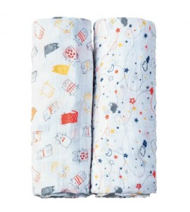 SET 2 PZ. BABY SWADDLE SPAZIO I COCCOLOSI