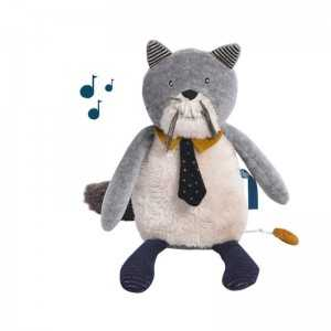 GIOCO MUSICALE GATTO LES MOUSTACHES MOULIN ROTY
